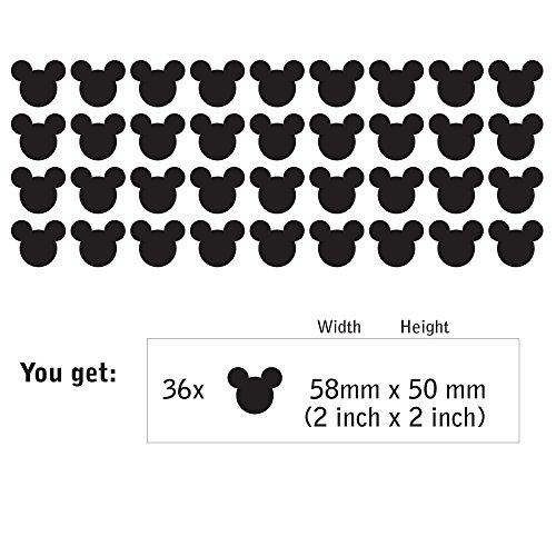 Set de 36orejas de Mickey Mouse pared arte adhesivo de vinilo, para niños, niñas bebé, niños dormitorio...