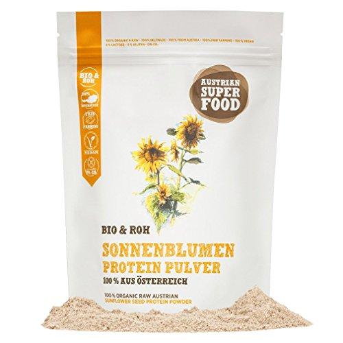 BIO Protein Eiweisspulver Sonnenblumen roh, natürlicher Muskelaufbau mit 47% Proteine 350 gramm Superfood