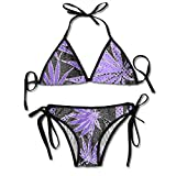 Women's Bikini Set Marijuana Weed Leaf Pattern Sexy Bathing Suit