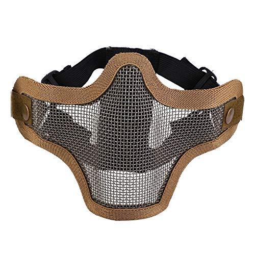 VGEBY1 Airsoft Masken, Half Face Protective Mask Mesh Gesichtsschutz für Airsoft Paintball Shooting CS Game Hunting(Braun) -