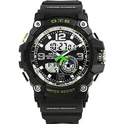 Men moving large dial/SimpleledDigital Watches/ men's waterproof watch-B