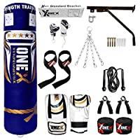 ONEX 14 PCs 4.6ft Boxing Punching Bag - Heavy Duty Target Punch Bags/Excellent Dummy for Boxing/Kick Boxing/MMA Training Equipment
