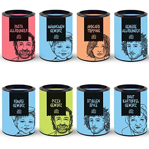 Just Spices Top 8 Gewürze Set | Geschenkset in schöner Holzbox | 8 unserer beliebtesten Gewürze in einer Box | Geschenk für Männer und Frauen