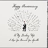 To My Darling Wife–Handarbeit Anniversary Karte–S53