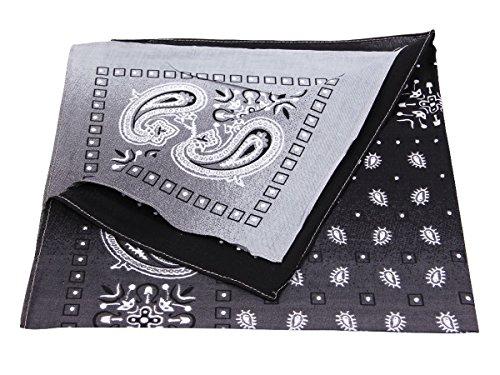 Bandana di colori e motivi diversi (BA-195) nero multifunzione classica foulard  scialle 192f0a0fdb1