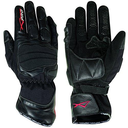 A-Pro Textil Leder Handschuhe Wasserdicht Dicke Wattierung Motorrad Roller Schwarz 3XL