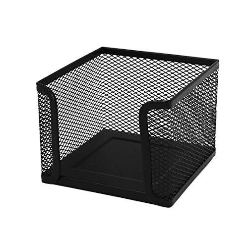 Leisial 1 Stück Zettelbox/Notizzettel-Boxen, 10 x 10 x 8 cm, Schwarz