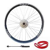 QR 700c Road Racing Bike REAR Wheel Sealed Bearings Hub 8 speed Freewheel