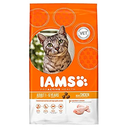 Iams Adult Dry Cat Food Chicken, 800g[Old Model] 1