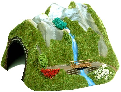 Busch 3007 - Tunnel mit Wasserfall HO
