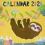 ERIK - Calendario de pared 2020 Perezoso, 30 x 30 cm (incluye póster de regalo)