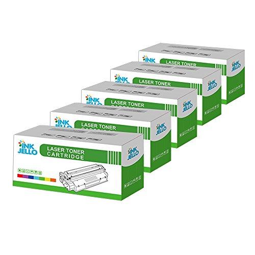 inkjello Kompatibler Toner Ersatz für Dell 17001700N 17101710N Lexmark E230232330332234240340342IBM Infoprint 14121412N 15121512N (schwarz, 5er Pack) - Ibm Lexmark Ersatz