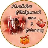 Tortenaufleger Fototorte Tortenbild zum Geburtstag Rund 20 cm G4 (Zuckerpapier)