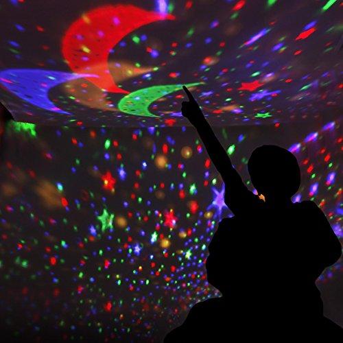 Sternenhimmel SCOPOW Projektionslampe mit LED-Timer Auto-off und rotierende romantische Star Sky Night Lighting Geschenk für Kinder - weiß, Sternenhimmel, Star, Schlafzimmer, Romantische, Projektionslampe, Night, Lighting, LEDTimer, Kindergarten, Kinder, Geschenk, baby einschlafhilfe auto, Autooff