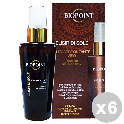 Biopoint set 6 biopoint sun autoabbronzante viso 50 ml. - prodotti solari