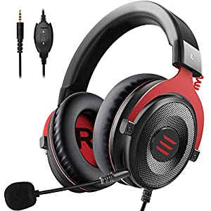EKSA E900 Gaming Headset mit 3,5 mm Stereo Sound PS4 Kopfhörer Xbox One Headset für Laptop PC Mac Computer Smartphone (E900-s)