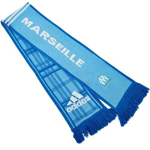 Adidas-Berretto adidas Performance Olympique Marseille-Sciarpa ufficiale, colore: blu