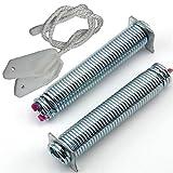 Türscharnier Türfeder Seilzug Reparatursatz 2 Federn (rosa) + 2 Seile, Spülmaschine Geschirrspüler Ersatz für Bosch 00754873 754873