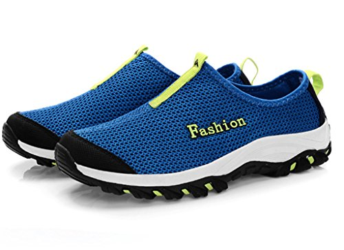 fangsto unisex-adults 'Athletic Mesh traspirante scarpe da corsa ghiaccio Blue