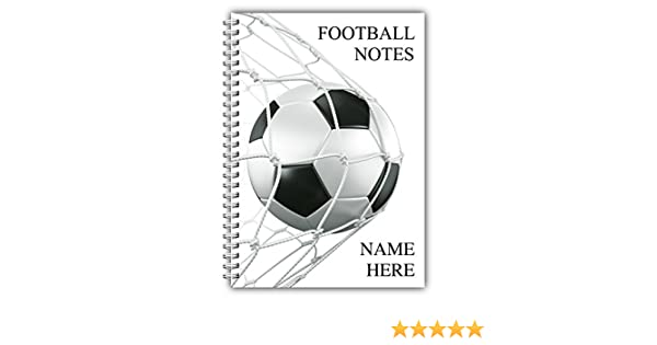 Free Delivery Childrens FOOTBALL MAD Personalised A5 Notebook Boys Notepad