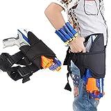 Pawaca Pistolentasche für Gürtel und Bein und 2 Pfeil-Holster-Taschen für Handgelenke im Set, für Kinder, für Hasbro Nerf Guns N-Strike Elite Series Blaster, #2