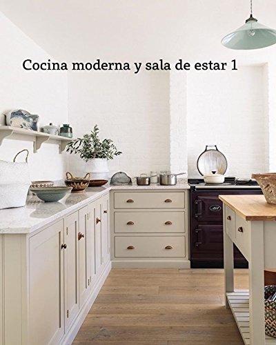 Cocina moderna y sala de estar 1
