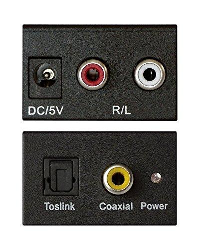 DAC Konverter Digital zu Analog Audiowandler mit Netzteil, SPDIF Toslink zu Analog-Stereo-Audio-R / L-Konverter-Adapter for PS3, Xbox, HD DVD, PS4, Sky, HD Plasma, Blu-ray Heimkino-Systeme, AV-Verstär