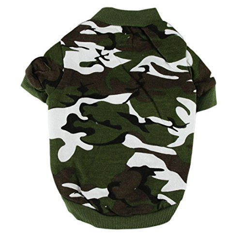 Personalisierter Neues T-shirt (Neue Haustier-Hundekatze-Baumwollkleidungs-Welpen-Kleidung Personalisierte Hündchen-Tarnungs-Mantel-Haustier-T-Shirt für kleine Hunde (S))