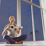 selbstklebende Sonnenschutzfolie (99% UV-block) UV-Blocker Folie für Fenster, Sichtschutz, Hitzeschutz (blockt 99% der UV-Strahlen), UV-Schutzfolie, Wärmeschutz,silber, fancy fix (76cm×300cm)
