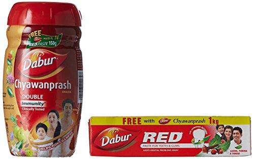 Dabur Chyawanprash Awaleha - Immunity Boost - 1kg (Free Dabur...