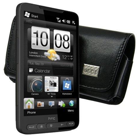 HTC Touch HD2 - Horizontal Tasche Ledertasche mit Clip und Sicherheitsschlaufe (Original MTT Produkt) fuer HTC Touch HD 2