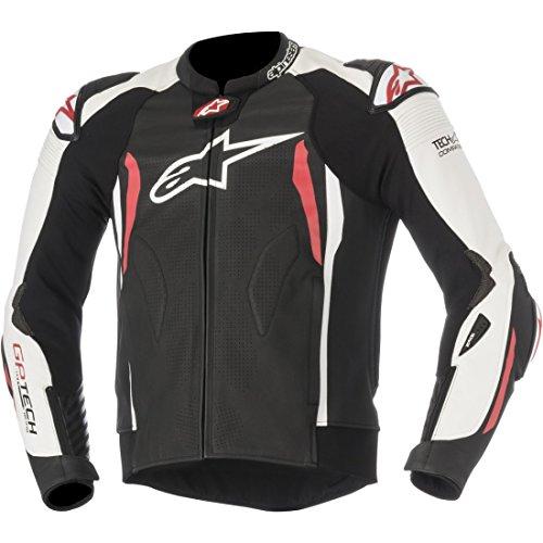 Alpinestars–cazadora moto–alpinestars GP Tech V2piel Tech Air compatible negro blanco rojo
