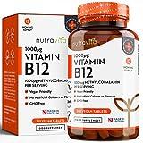 Vitamin B12 Methylcobalamin 1000mcg | Jahresvorrat mit 365 Hochdosierte Vegane Tabletten von Nutravita