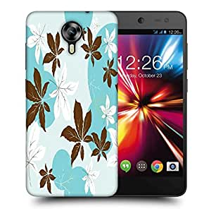 Snoogg Abstract Leaves Pattern Printed Protective Phone Back Case Cover For Micromax Canvas Nitro 4G