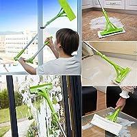 BIUBIUboom_ Telescopic Foldable Handle Cleaning Glass Sponge Mop Cleaner Window Extendable