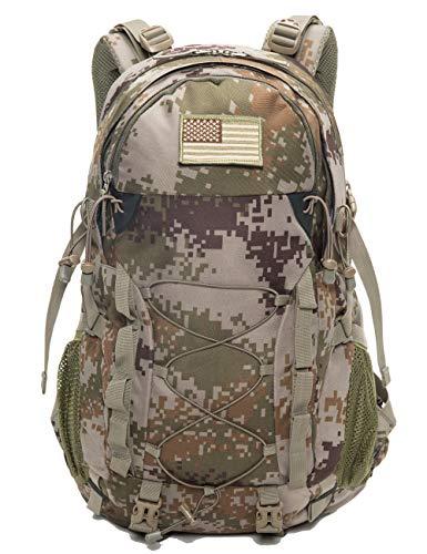 Diamond Candy Wasserdichter Wanderrucksack Outdoor Daypacks 40 l mit Regenschutz, Unisex-Erwachsene, camouflage, 40