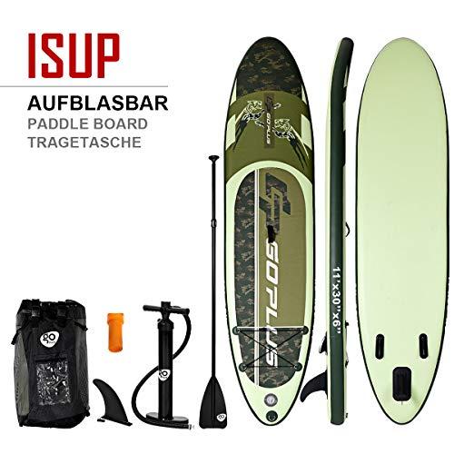 COSTWAY Paddelboard 335 x 76 x 15cm | Surfboard bis 200 kg | Sup-Board mit Pumpe | Paddelbrett mit Alu-Paddel | Stand up Board Set