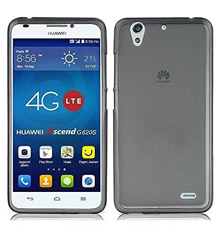 TBOC® Coque Gel TPU Noir pour Huawei Ascend G620S en Silicone Souple Ultra Mince Etui Housse