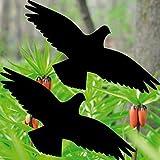 GreenIT 10 Stück 20cm schwarz Vogel Aufkleber die Cut Tattoo Warnvögel Fenster Schutz Deko Folie