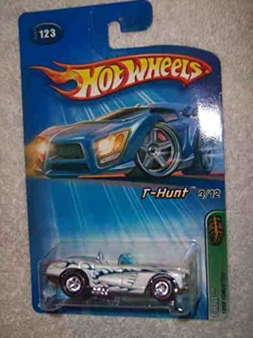 2005 Treasure Hunt #3 1958 Corvette Red Line Tires #2003-123 Collectible Collector Car Mattel Hot Wheels by Hot Wheels