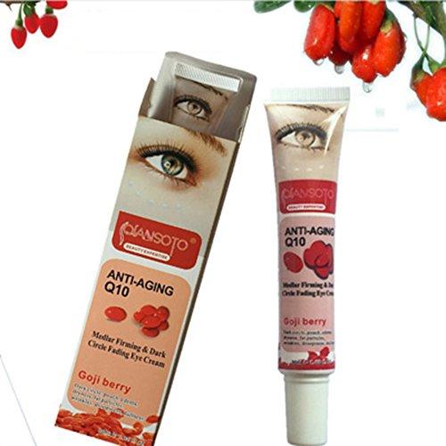 bulary Goji Eye Creme Rot Feuchtigkeitsspender Eye Cream Anti Aging Anti Falten Anti Müdigkeit entfernen Eye Bag Dark Circle Haut Pflege verbessert Haut 30g (Dark Eye Bag)