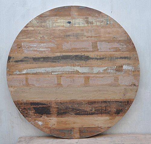 Rond massif rustique en bois recyclé Dessus de table à café Restaurant meubles