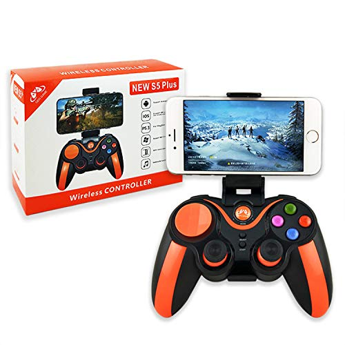 GEN Game S5 Plus Wireless 4.0 Gamepad Trigger Pubg Controller Mobile Joystick kompatibel Phone8/XR/XS iOS kompatible Android Handy Tablet PC (Play Straight)