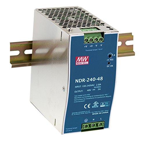 MEAN WELL original NDR-240-48 48V 5A meanwell NDR-240 48V 240W single - produktion industrielle din - schiene stromversorgung