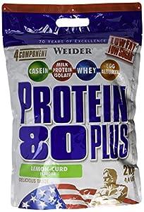Weider 80 Plus Protein, Zitrone-Quark (1 x 2 kg)