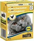 BOZITA Nassfutter BOZITA HÄPPCHEN in Gelee mit Hühnchenleber 1x 370g für Katzen
