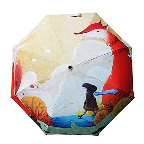 Sombrillas Paraguas 3-plegable Protector solar Protección