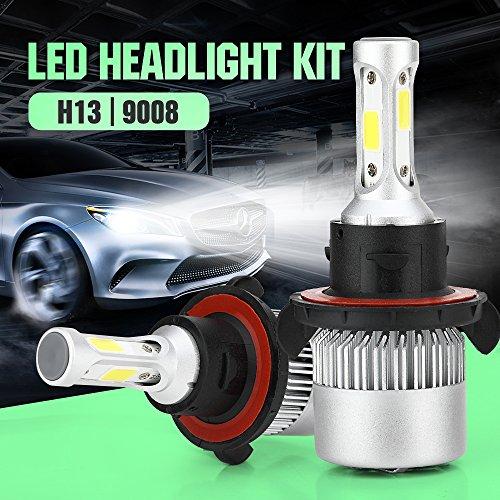 [2 x H13/9008 LED Scheinwerfer] TKSTAR Auto Scheinwerfer lampe Birnen, Fahren Glühlampe Auto Licht LED Scheinwerfer Headlight LED Headlampe Umbausatz, 40W 7600LM 6000K LEDS2-H13