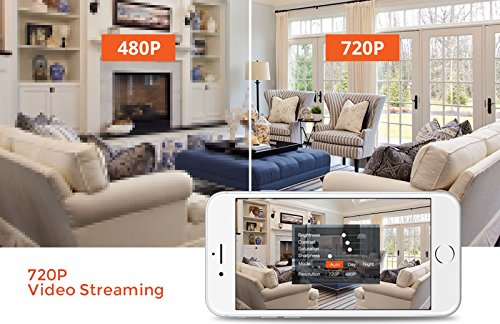 UpdatedVersion IP Camera mobile Pan Tilt 720P Surveillance Camera Motion stereo audio Detection HD Recording remote control view DayNight Indoor household Security 2Way stereo audio WiFi put in place PlugPlay Dome Cameras