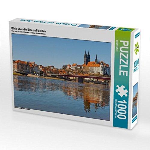 Preisvergleich Produktbild Blick über die Elbe auf Meißen 1000 Teile Puzzle quer: Meißen in Sachsen (CALVENDO Orte)